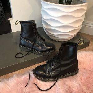 Dr Martens Black Lace-Up Boots 1460
